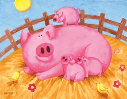 Pink Pigs Pig Children's Puzzles