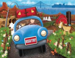 Road Trip Cartoons Jigsaw Puzzle