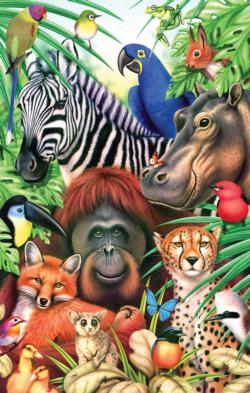 Jungle Magic Jungle Animals Jigsaw Puzzle