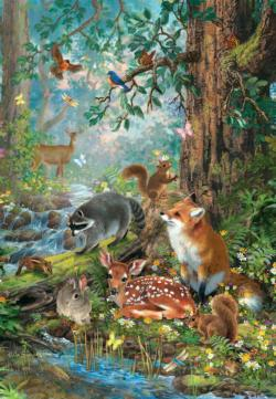 Gathered in the Forest Wildlife Jigsaw Puzzle