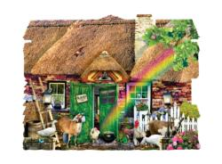 Irish Cottage Cottage / Cabin Shaped Puzzle