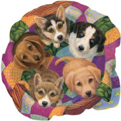 Litter of Puppies Dogs Jigsaw Puzzle
