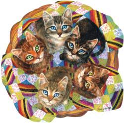 Kitten Basket Cats Jigsaw Puzzle