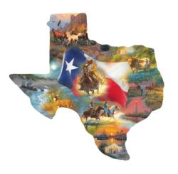 Images of Texas Collage Jigsaw Puzzle