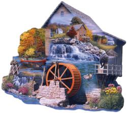 The Old Mill Stream Lakes / Rivers / Streams Jigsaw Puzzle