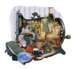 Sewing Memories Domestic Scene Jigsaw Puzzle