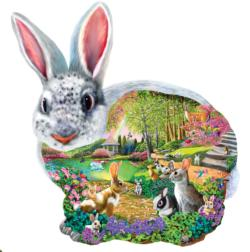 Bunny Hollow Bunnies Jigsaw Puzzle