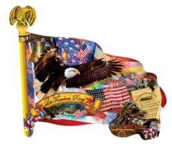 Long May It Wave Fourth of July Jigsaw Puzzle