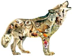 Native American Wolf Wolves Jigsaw Puzzle