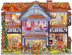 Autumn Country House Domestic Scene Jigsaw Puzzle