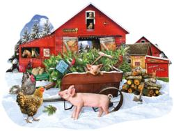 Cut Your Own Tree Christmas Jigsaw Puzzle