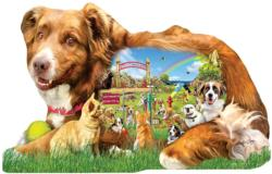 Dog Park Dogs Jigsaw Puzzle