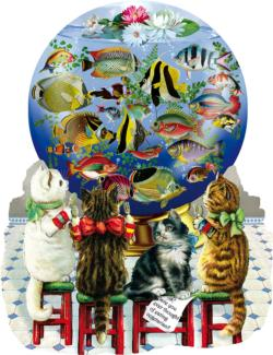 KItties in the Kitchen Fish Jigsaw Puzzle