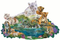Tigers at the Pool Tigers Jigsaw Puzzle