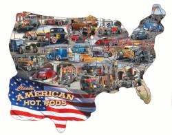 Hot Rod USA! - Scratch and Dent Flags Jigsaw Puzzle
