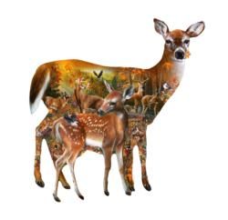 Forest Majesty Deer Shaped Puzzle