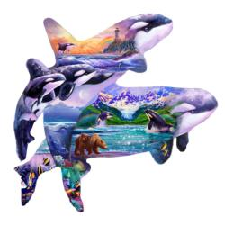 Orca Habitat Shaped Puzzle