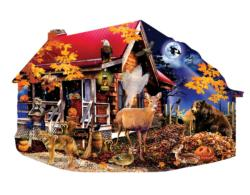 Fireflies at the Cabin Night Jigsaw Puzzle