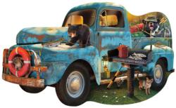 The Blue Truck Cars Jigsaw Puzzle