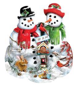 Snow Family Snowman Jigsaw Puzzle