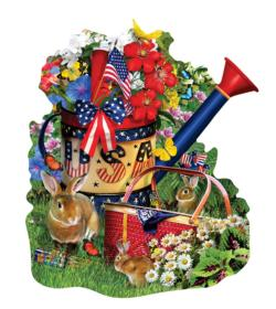 Summer Watering Can Garden Jigsaw Puzzle