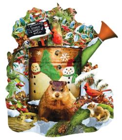 Groundhog Day Flowers Jigsaw Puzzle