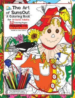 The Art of SunsOut: Volume 4 Out in the Country Farm Coloring Book