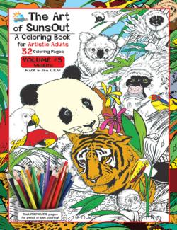 The Art of Sunsout: Volume 5 Wildlife Wildlife Coloring Book