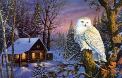 Night Watch Owl Jigsaw Puzzle