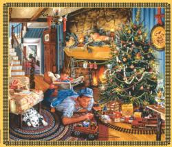 Christmas Train Dementia / Alzheimer's Large Piece