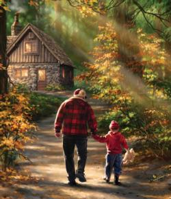 Path to the Cabin Dementia / Alzheimer's Large Piece