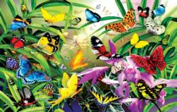 Butterflies Flowers Jigsaw Puzzle