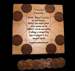 7 Pennies Puzzle Brain Teaser