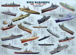 WWII War Ships Pattern / Assortment Jigsaw Puzzle