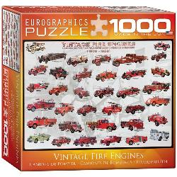Vintage Fire Engines Nostalgic / Retro Jigsaw Puzzle