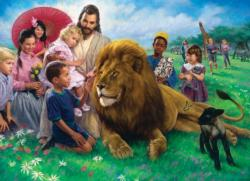 The Lion and the Lamb Religious Jigsaw Puzzle