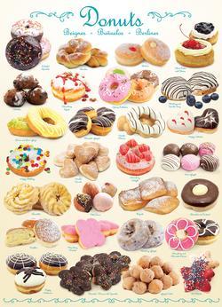 Donuts Pattern / Assortment Jigsaw Puzzle