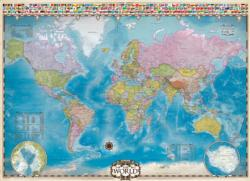 Map of the World with Flags (Small Box) Geography