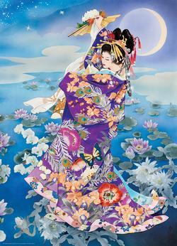 Tsuki Hoshi Asian Art Jigsaw Puzzle