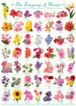 Flowers Pattern / Assortment Jigsaw Puzzle