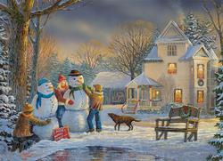 Snow Creations Snowman Jigsaw Puzzle