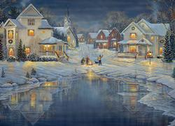 Evening Light Snow Jigsaw Puzzle