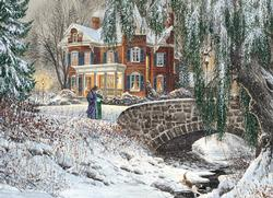 Winter Lace Bridges Jigsaw Puzzle