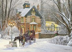 Evening Stroll Winter Jigsaw Puzzle