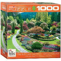 Sunken Garden (Butchart Gardens) Landscape Jigsaw Puzzle