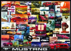 Ford Mustang Vintage Ads Collage