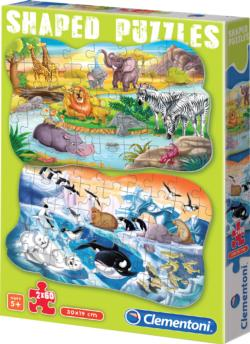 Funny Animals Jungle Animals Children's Puzzles