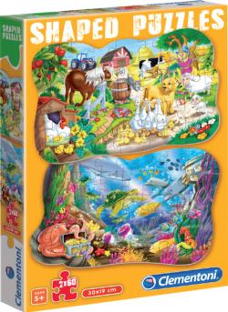 Funny Animals Animals Shaped Puzzle