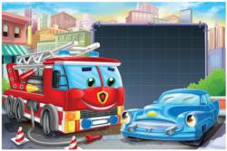 Message Puzzles - City Vehicles Children's Puzzles
