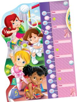 Double Fun - Girls Puzzle Growth Chart Sports Children's Puzzles